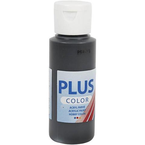 Plus Color, askartelumaali, 60ml, musta