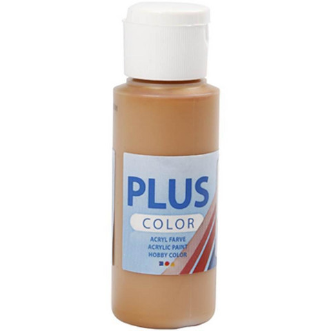Plus Color, askartelumaali, 60ml, sienna