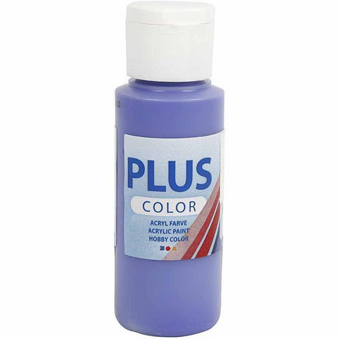 Plus Color, askartelumaali, 60ml, sinivioletti (Blue Violet)