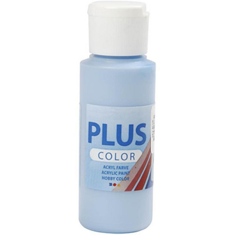 Plus Color, askartelumaali, 60ml, taivaansininen