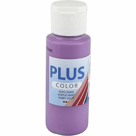 Plus Color, askartelumaali, 60ml, tumma lila
