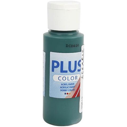 Plus Color, askartelumaali, 60ml, tummanvihreä