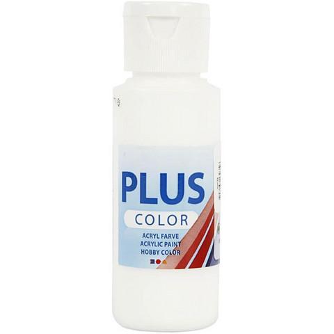 Plus Color, askartelumaali, 60ml, valkoinen
