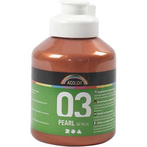 A-Color, akryylimaali, 03, metallikupari, 500ml