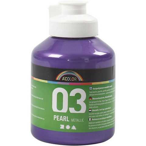 A-Color, akryylimaali, 03, metallivioletti, 500ml