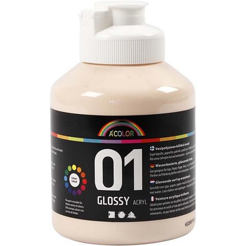 A-Color, akryylimaali, 01, kiiltävä, ihonväri 500ml