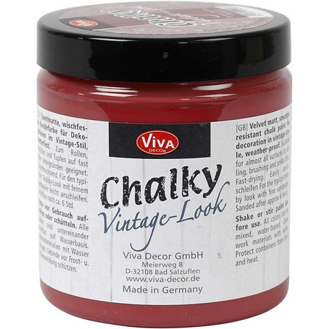 Chalky Vintage Look -maali, bordeaux (404), 250ml