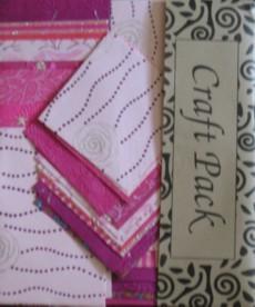 Käsintehty Paperipakkaus, pinkki