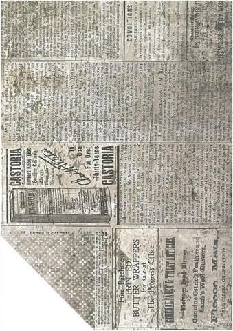 Kuviokartonki, Sanomalehti, 300g, A4
