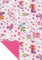 Kuviokartonki, Sydämet ja pöllöt, 300g, A4
