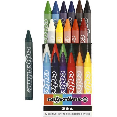 Colortime-vahaliidut, värilajitelma, 12kpl