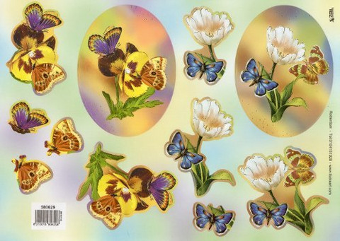 3D, Stanssattu, TBZ, Kimaltava Kukat ja perhoset