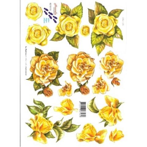 3D, Keltainen ruusu