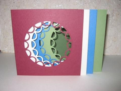 Korttipohja Neliö Scallop + Kuoret, Oliivinvihreä