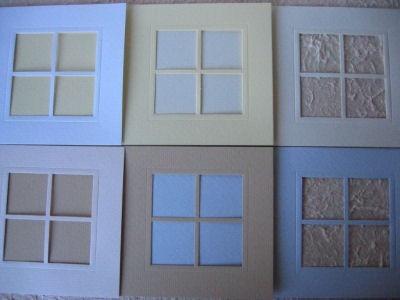 Neliöikkunakortti + Kuoret, Luonnonvalkoinen
