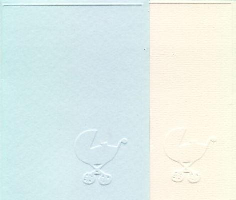 Korttipohja Vauva-aihe, Vaaleansininen