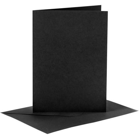 Korttipohjat ja kirjekuoret, Musta