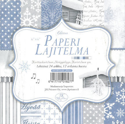 Paperilajitelma, Joulu sininen, Glitter 6