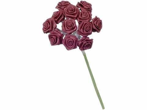 Dior-ruusu, tummanpunainen, 12mm