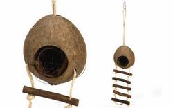 Kookosmökki portailla pienjyrsijöille, n. 30 cm.