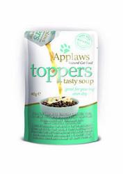 Applaws kissa Topper kurpitsakeitto+ahven 3x40g