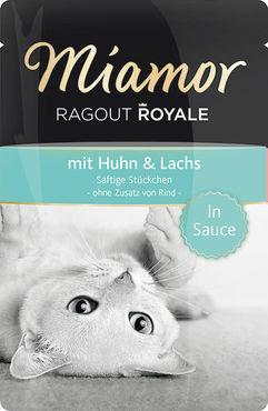 Miamor Ragout Royale in Sauce kana & lohi 100g