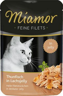 Miamor Fine Filets Tonnikala & Lohihyytelössä 100g