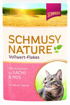 Schmusy Nature Vollwert-Flakes Lohi & Riisi 100g