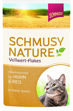 Schmusy Nature Vollwert-Flakes Kana & Riisi 100 g
