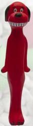 Koira Lateksi, pitkäkroppainen, punainen n. 22 cm