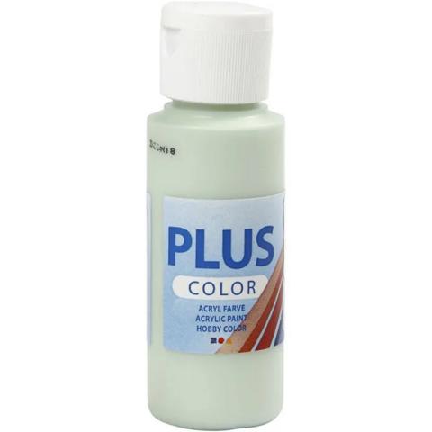 Plus Color, askartelumaali, 60ml, keväänvihreä