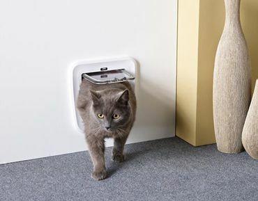 Classic kissanluukku oveen 24 x 25 cm valkoinen