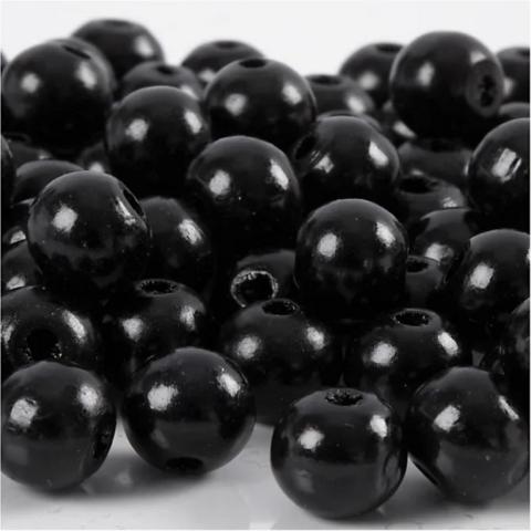 Puuhelmet, musta, 20g/pkk
