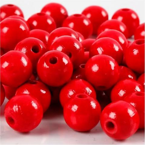 Puuhelmet, punainen, 20g/pkk