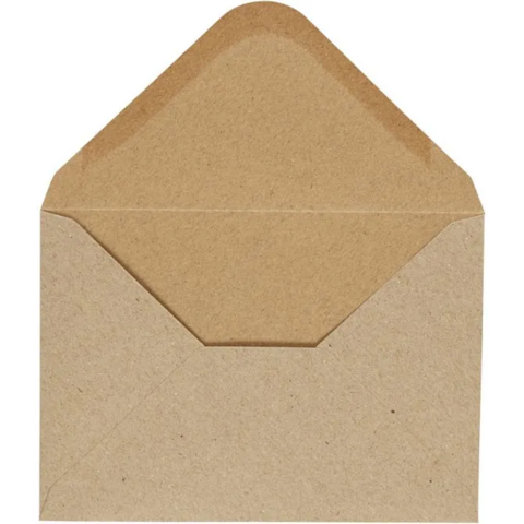 Kirjekuori, 110g, luonnonruskea, 10kpl/pkk