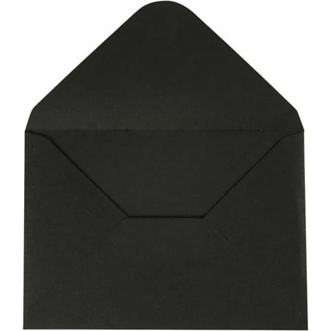 Kirjekuori, 110g, musta, 10kpl/pkk