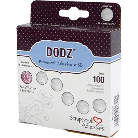 Liimatäplät Dodz 3L, ⌀12 mm, 100kpl/pkk