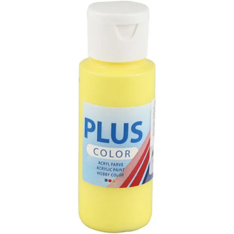 Plus Color- askartelumaali, 60ml, peruskeltainen