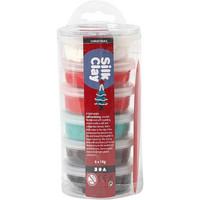 Silk Clay- silkkimassa 6x14g joulunvärit