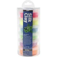 Silk Clay- silkkimassa 6x14g neonvärit