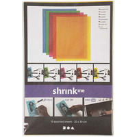 Kutistemuovilevyt, arkki 20x30, 10 lajitelma, vahvat värit
