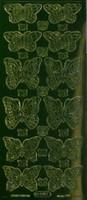 Ääriviivatarra, Perhonen, vihreä