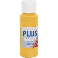 Plus Color, askartelumaali, 60ml, auringonkeltainen