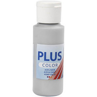 Plus Color, askartelumaali, 60ml, hopea