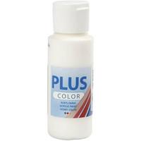 Plus Color, askartelumaali, 60ml, luonnonvalkoinen