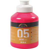 A-Color, akryylimaali, 05, neonpinkki, 500ml