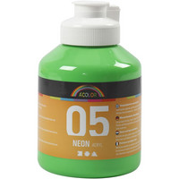 A-Color, akryylimaali, 05, neonvihreä, 500ml