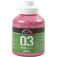 A-Color, akryylimaali, 03, metallivaaleanpunainen, 500ml