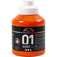 A-Color, akryylimaali, 01, kiiltävä, oranssi, 500ml