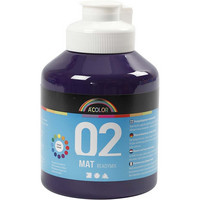 A-Color, Readymix, akryylimaali, 02, matta (kylttimaali), violetti, 500ml